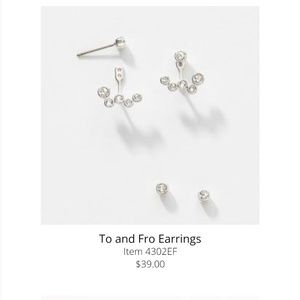 To and Fro Touchstone Crystal Earrings